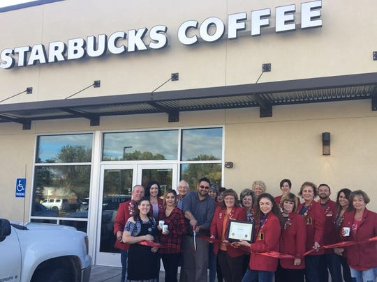 A ribbon cutting ceremony was held recently for the new Starbucks at 2900 E. Main Street.