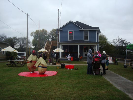Last Fall, Open Streets festivities included Sumo wrestling on the lawn outside The Landing House.