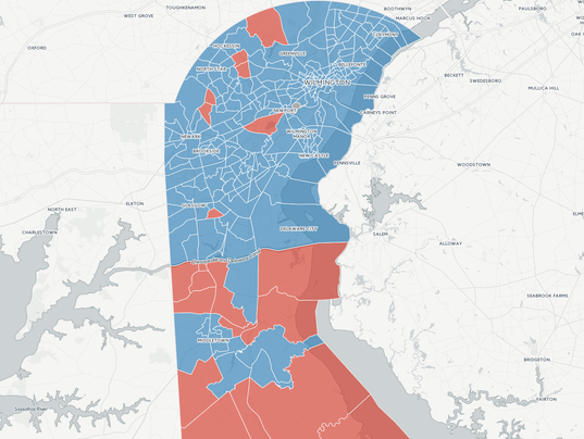 Delaware Presidential Race Results By Election District