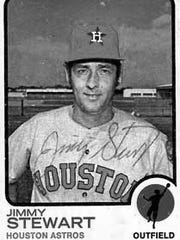Jimmy Stewart's baseball card with the Houston Astros.