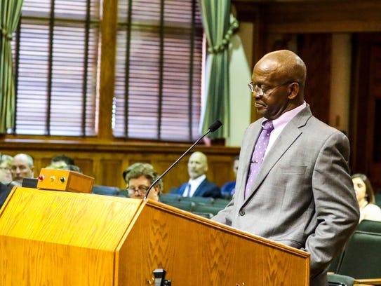 James Muwakkil spoke to the Commission asking that