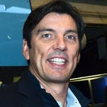 Tim Armstrong, Chairman and CEO of AOL Inc. visits the NYSE Opening Bell to celebrate MAKERS, at New York Stock Exchange on October 23, 2014 in New York City.