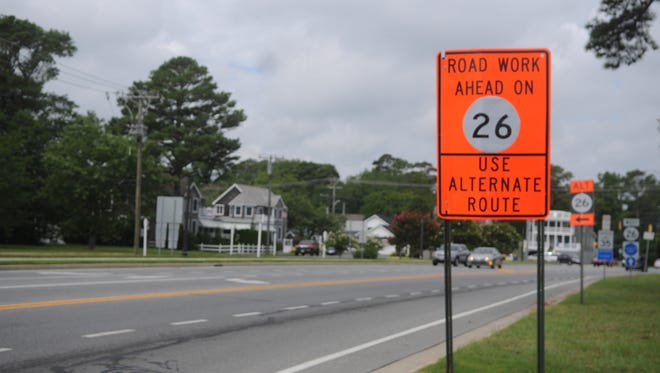 Construction on Route 26, which began on Jan. 6 2014, is slated for completion in September.