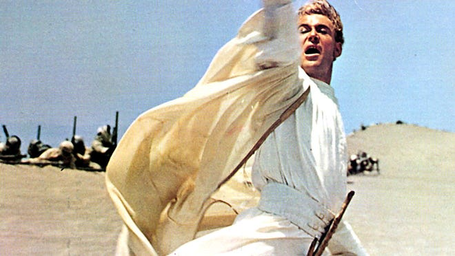 "Peter O'Toole start in ""Lawrence of Arabia."""