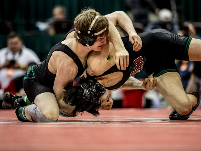 Bryce Hrynicw of Oak Harbor placed second in the state