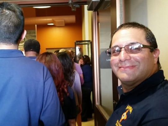 Jason Rivera, alarm administrator for the Mesilla Valley