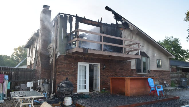 Three cats perished in this fire on Saturday, July 9, 2016, in a two-story home at 4726 Whirlaway Drive on Indianapolis' southeast side.