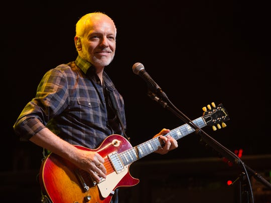 Peter Frampton performs at the Tobin Center in San Antonio. Frampton returns to Des Moines on July 15.