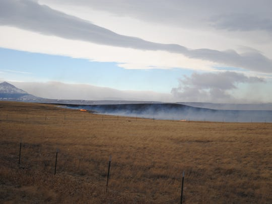 A fire Sunday north of Browning had burned more than