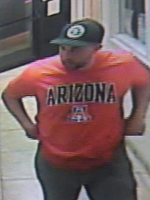 Tucson police are searching for the man who broke into the Islamic Center of Tucson on March 13, 2017, and vandalized religious texts.