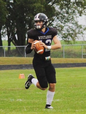 Rock Creek quarterback Charlie Killingsworth had a career night in the Mustangs' 58-57 shootout loss to Rossville last Friday. Killingsworth threw for 491 yards and five touchdowns and ran for 136 yards and four scores.