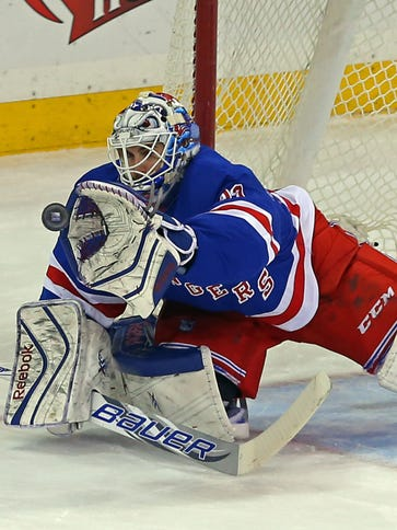 Cam Talbot  and the New York Rangers can clinch a playoff