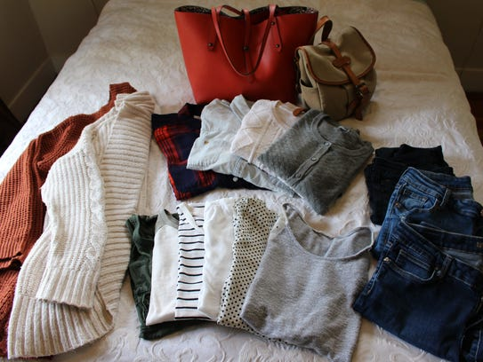 Creating a capsule wardrobe involves downsizing your