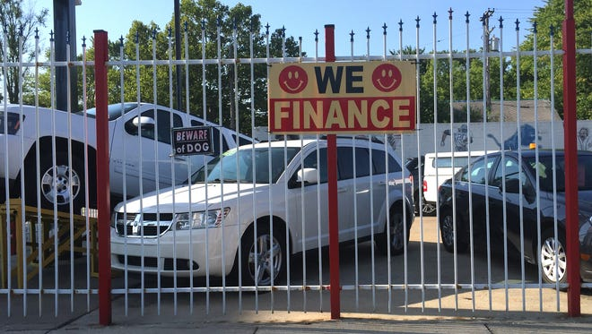 The percentage of carbuyers trading in cars that are worth less than their loan balances reached a record 32% so far in 2016, according to Edmunds.com. People with those underwater loans will find it hard to obtain financing when they want to buy their next vehicle.