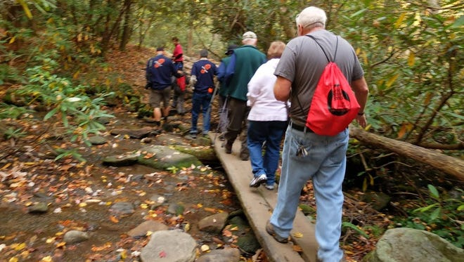 File -- A GoSmokies hike in the Cosby Campground area.