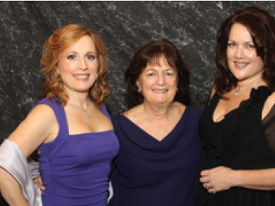 From left, Dr. Teresa Sievers with her mother, Mary Ann Groves, and sister Annie Lisa, in 2012 when Sievers was an Apex award finalist.