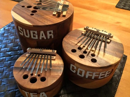 Some of the kalimbas that artist Jim Ivy, of Owensboro has created since he founded Hermit Crab Kalimas last year. He will be selling some of his his creations during the 14th annual Haynie's Corner Art Festival, presented by Funk in the City.
