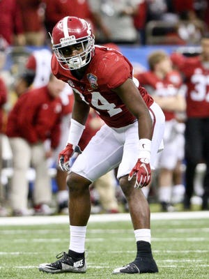 Alabama defensive back Geno Smith played in all 14 games last season, making six starts. Jan 1, 2015; New Orleans, LA, USA; Alabama Crimson Tide defensive back Geno Smith (24) against the Ohio State Buckeyes during the second half in the 2015 Sugar Bowl at Mercedes-Benz Superdome.