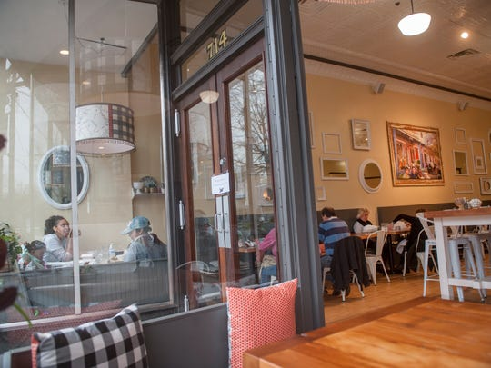 Interior of Sabrina's Cafe in Collingswood is a cozy place to dine.