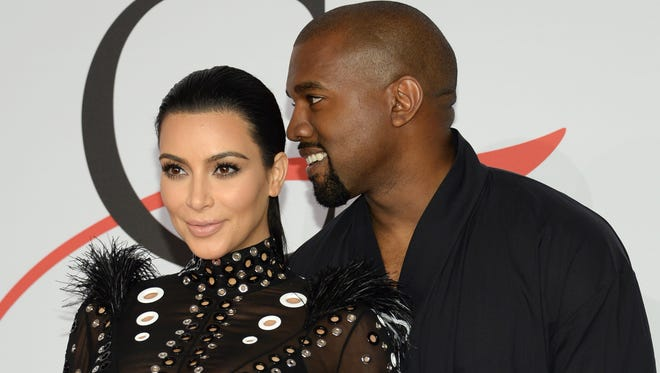 Kim Kardashian and Kanye West in June 2015 in New York.