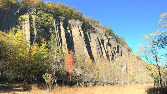 The Palisades are the cliffs that line the Hudson River north of New York City.