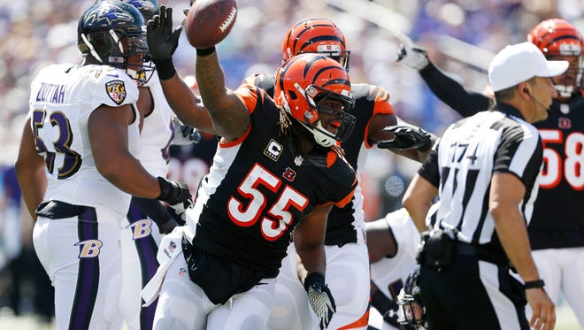 The Bengals look to sweep the 2014 series against the Ravens on Sunday.