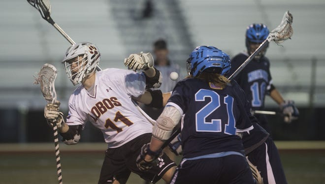 Rocky Mountain High School attack Jacob Higdon has been named to the Coloradoan's All-Area boys lacrosse team.