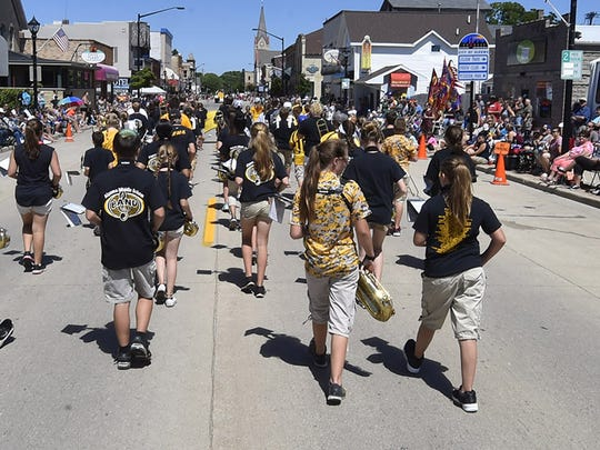The 34th annual Shanty Days drew thousands of parade fans Saturday, Aug. 12, 2017, in downtown Algoma. The three-day festival carried eight bands, 5K Run/Walk, Fishing Contest, Pool Tournament, Car Cruise, Library Book Sale, Juried Arts & Crafts Street Fair, Children & Teen Actitives/Entertainment, Beach Volleyball Tournament and topped off by Sunday night fireworks.
