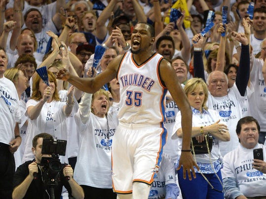 Kevin Durant has played his entire nine-year career
