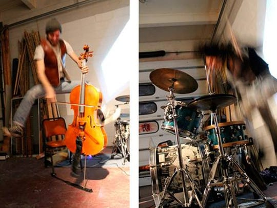 Human Ottoman is a Eugene-based cello, drums and vibraphone trio.