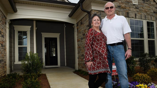 Celeste and Michael Schmidt are moving to the new Del Webb 55 and better community in Spring Hill. They purchased a home similar to the model home, shown here.