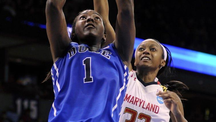 Duke Blue Devils center Elizabeth Williams (1) goes