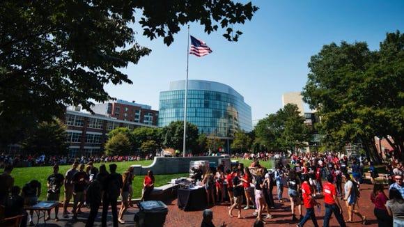 The campus of Northeastern University in Boston, Mass.