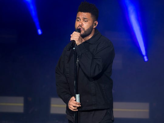 The Weeknd performs at the American Family Insurance