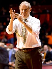 Michigan coach John Beilein calls a time-out during