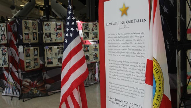 Artifacts on display as part of the 'Remembering Our Fallen' exhibit.