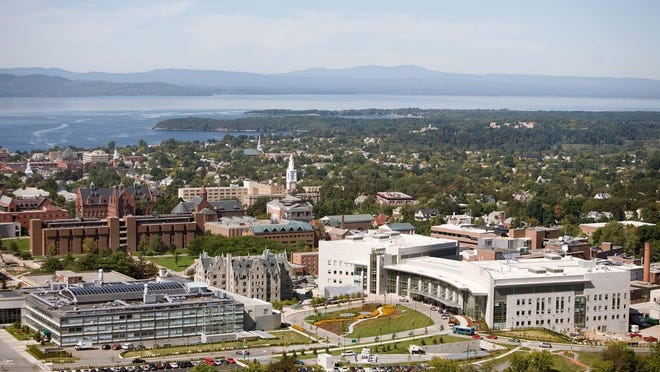 An aerial view of the University of Vermont Medical Center in Burlington