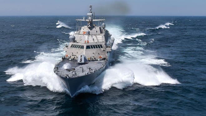 The USS Detroit is part of a new controversial breed of naval vessel, which operates with speed, agility and is designed to work in shallow waters.