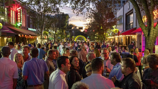The 200 block of Clematis Street hosted a block party late last year. Now the 500 block is hosting block parties every weekend.