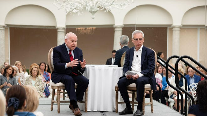 Dr. Ronald Crystal and Dr. Howard Fillit speak at the Alzheimer's Drug Discovery Foundation symposium March 11 at The Beach Club.