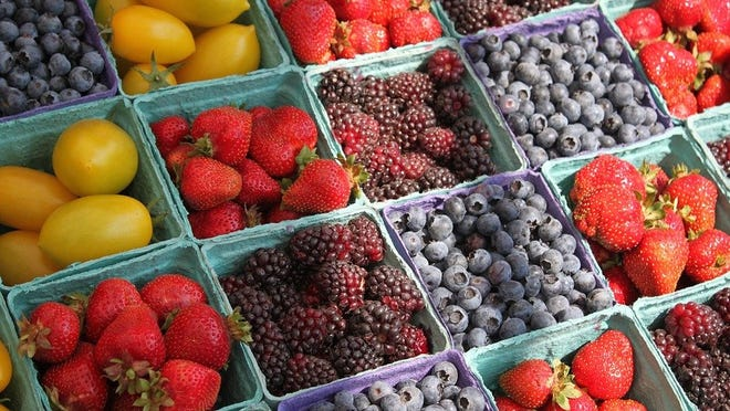 Fresh berries are among the produce items the markets will be selling.