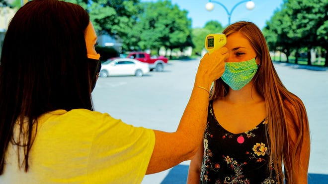 Students had their temperature checked upon their return to campus.