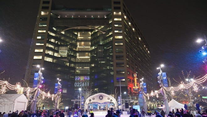 Frigid temperatures and snowy skies did not stop the celebration during The Drop, downtown Detroit's New Year's Eve celebration last year at Campus Martius.