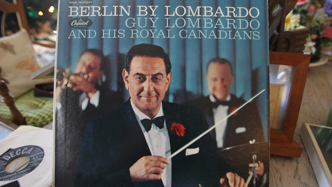 An album cover of Guy Lombardo and His Royal Canadians. photos by Sarah Coward/The News-Press An album cover of Guy Lombardo and the Royal Canadians.