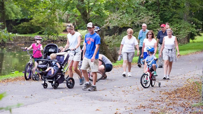 Try Hagley Museum's Bike and Hike nights on Wednesdays. Admission is $2. A 3-mile loop takes guests from the Visitor Center to Eleutherian Mills and back.