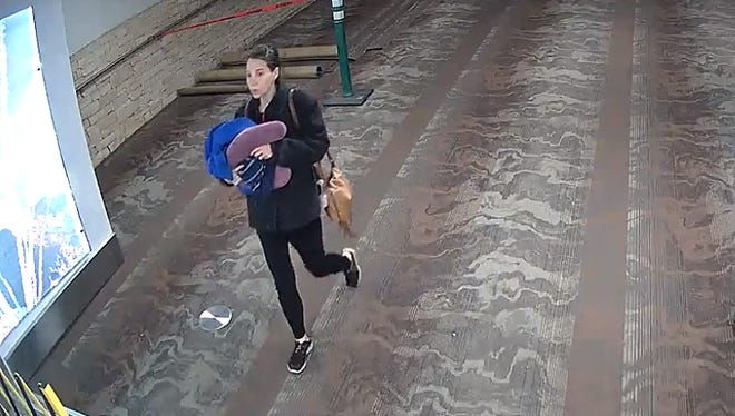 Police are looking for this woman who they say may have abandoned a baby at the Tucson International Airport.