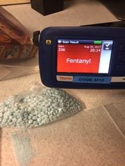 Oxycodone with a scanner testing positive for Fentanyl.