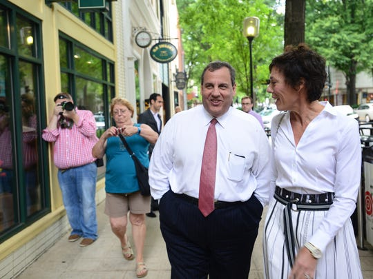 New Jersey Gov. Chris Christie may not be in a good position to capitalize on the exit of U.S. Senator Lindsey Graham of South Carolina in the race for the GOP presidential nomination. This is a file photo from Greenville, South Carolina, when local official Amy Ryberg Doyle gave Christie a tour during his visit June 3.