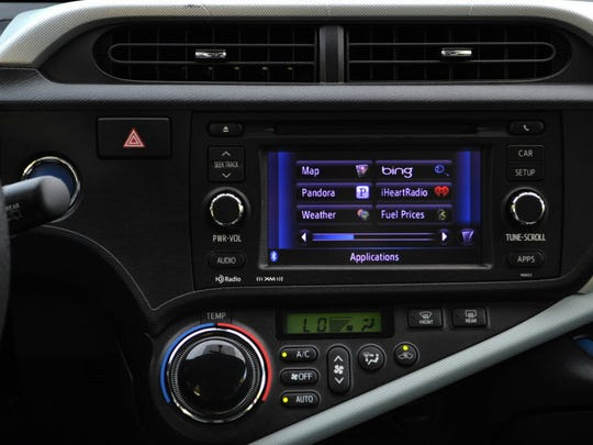Toyota's current Entune system, which allows consumers