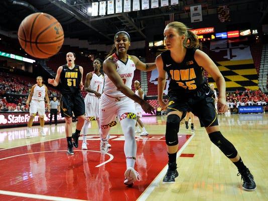 NCAA Womens Basketball: Iowa at Maryland